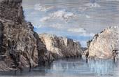 View of Marble Rocks - Narmada River - Jabalpur (India)