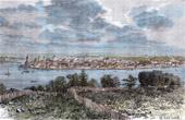 View of Irkutsk before 1878 - Siberia (Russia)
