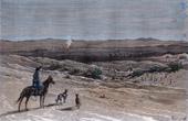 Ansicht von Kysylkumwüste - Dussibaïbrunnen (Kasachstan - Usbekistan)