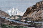 View of Chtchourovskiy Glacier - Caucasus (Georgia)