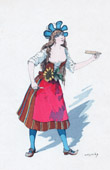 Theater Clothing - French Stage Costume - Barbe-Bleue - Opéra-bouffe (Jacques Offenbach) - Boulotte