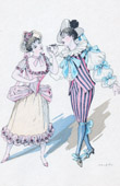 Theater Clothing - French Stage Costume - Barbe-Bleue - Opéra-bouffe (Jacques Offenbach) - Fleurette and Saphyr