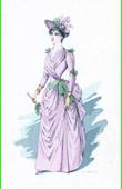 Traje de Teatro Francés - La grande Marnière (Georges Ohnet) - Mme Tourette