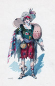Theater Clothing - French Stage Costume - La Cigale Madril�ne - Op�ra-comique (L�on Bernoux) - The Bizkayan
