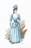Traje de Teatro Franc�s - La grande Marni�re (Georges Ohnet) - Antoinette