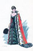 Traje de Teatro Francés - La princesse Georges (Alexandre Dumas fils) - Comedia - Sylvanie
