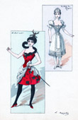 Theater Clothing - French Stage Costume - Le Club des Pannés - Le chat noir - Le Shah de Russie
