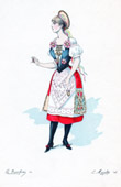 Theater Clothing - French Stage Costume - Norwegian woman
