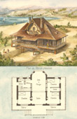 Drawing of Architect - House - Chalet in Barneville-Carteret (Mr Bruno-Pellissier Architecte)