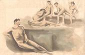 Stich von Erotische Szene - Curiosa - Masturbation