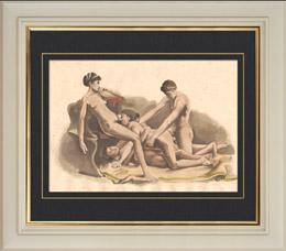 Erotische Szene - Curiosa - Orgie