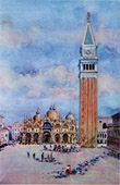 View of Venice - St Mark's Campanile - St Mark's Square - Piazza San Marco (Italy)