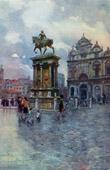 View of Venice - Equestrian Statue of Bartolomeo Colleni - Campo Santi Giovanni e Paolo (Italy)