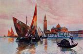 View of Venice - Gondola - Island San Giorgio Maggiore - Piazza San Marco (Italy)