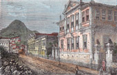 View of Rio de Janeiro - Colégio de Meninas da Baronesa de Geslin - Rua do Príncipe (Brazil)