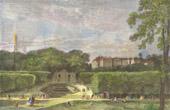 View of the Parc de Saint Cloud and the Castle (France)