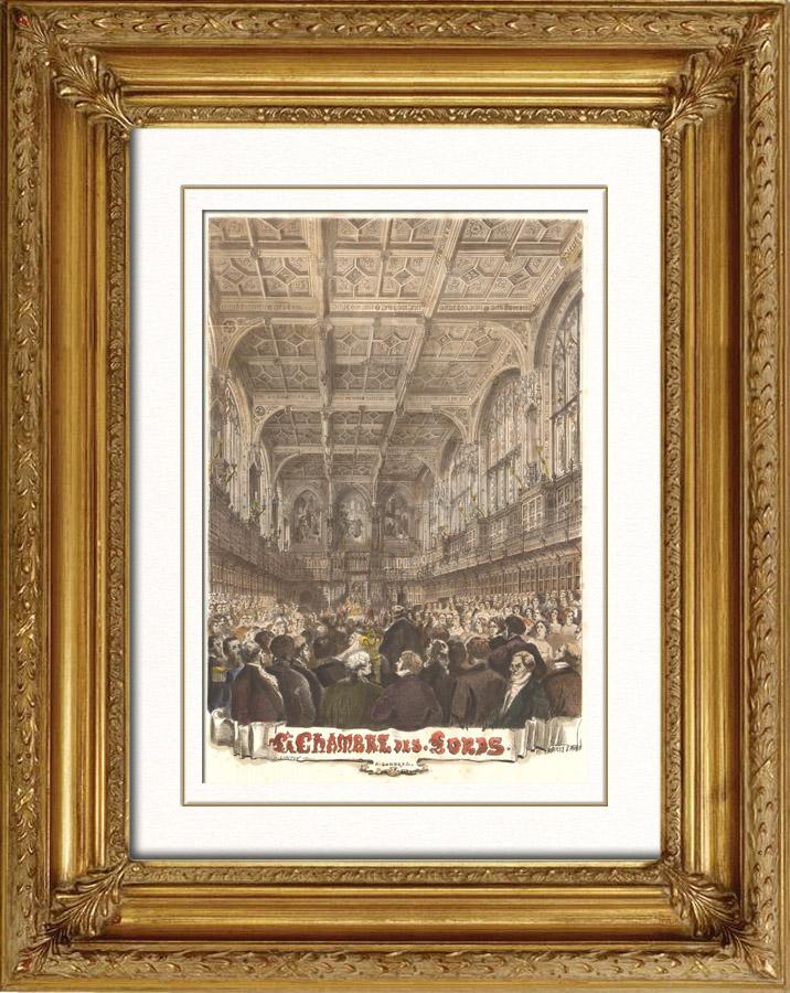 Gravures anciennes gravures de parle - Chambre des lords angleterre ...
