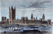 View of London - England - Palace of Westminster - Houses of Parliament (United Kingdom )