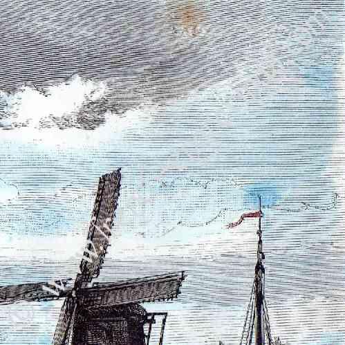 alte stiche windm hlen zu zaandam holland holzstich 1879. Black Bedroom Furniture Sets. Home Design Ideas