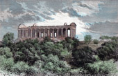 View of Girgenti - Agrigente - Sicily - Temple of Concorde (Italy)