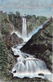 View of the Waterfall at Terni - Cascata delle Marmore - Umbria (Italy)