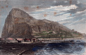 Antique print - View of Gibraltar (United Kingdom)