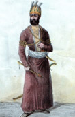 Portrait of Nadir Schah - Shah of Persia (1688-1747)
