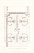 Architect's Drawing - Cathédrale Notre Dame de Paris - Sacristy - Paris