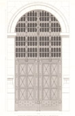 Architect's Drawing - The Sainte-Chapelle - The Holy Chapel - Courthouse (Paris)