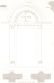 Architect's Drawing - Semur-en-Brionnais Church (Saône-et-Loire - France)