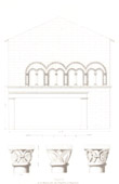 Architect's Drawing - House of Templars - Order of the Temple in Beaugency (Loiret - France)