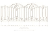 Architect's Drawing - Saint Germain l'Auxerrois Church in Paris - Ironwork (France)