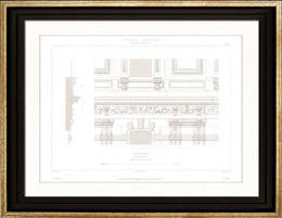 Architect's Drawing - Louvre Palace (Paris) - Entablature