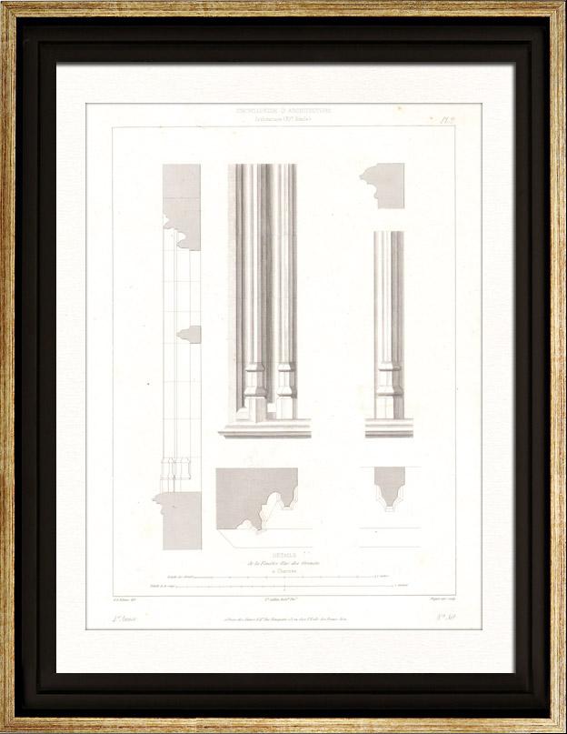 gravures anciennes dessin d 39 architecte fen tre d 39 une maison chartres france d tails. Black Bedroom Furniture Sets. Home Design Ideas