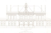 Architect's Drawing - City Hall (11th Arrondissement of Paris) - Facade