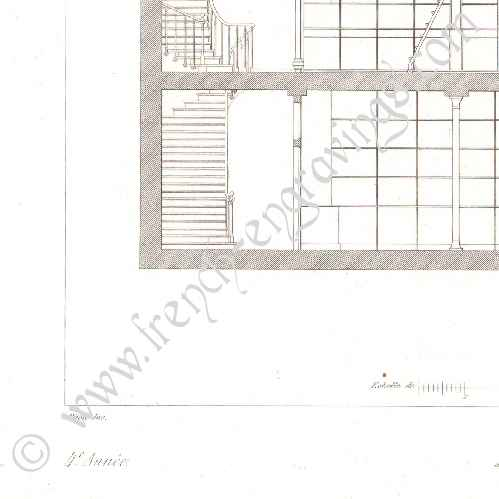 Antique Prints Print Of Drawing Of Architect