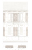 Architect's Drawing - Facade of lycée Charlemagne - Charlemagne (Paris)