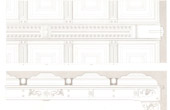 Dessin d'Architecte - Palais de Justice (Paris) - Plafonds - Décoration
