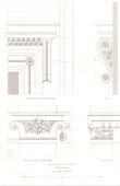 Architect's Drawing - City Hall of Vincennes (Val-de-Marne - France) - Decoration - Cornice