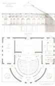 Architect's Drawing - Haguenau Theater (Bas-Rhin - France) - Facade - Interior