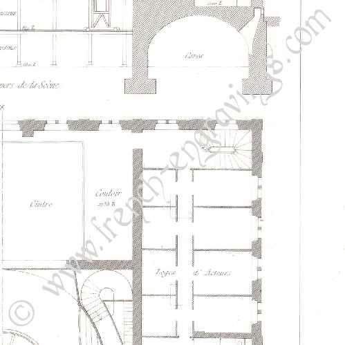 gravures anciennes gravure de dessin d 39 architecte th tre d 39 haguenau bas rhin france. Black Bedroom Furniture Sets. Home Design Ideas