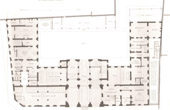 Architect's Drawing - City Hall (11th Arrondissement of Paris) - Ground floor