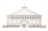 Architect's Drawing - Cirque d'hiver - Winter Circus - Cirque Napoléon (Paris) - Facade