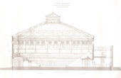 Architect's Drawing - Cirque d'hiver - Winter Circus - Cirque Napol�on (Paris) - Coupe