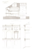 Architect's Drawing - Haguenau Theater (Bas-Rhin - France) - Details of the facade