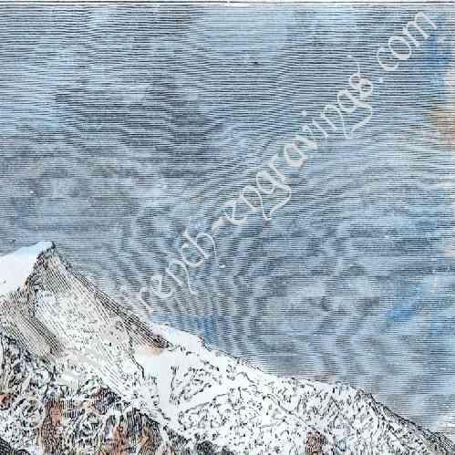 gravures anciennes mont blanc chamonix haute savoie france gravure sur bois 1877. Black Bedroom Furniture Sets. Home Design Ideas
