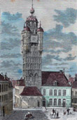 Belfry in Bergues (Nord-Pas-de-Calais - France)