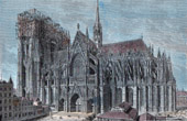 Cologne Cathedral in 1875 (Germany)