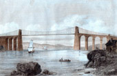Br�cke - Menai Bridge in Anglesey (Wales)