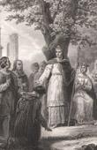 San Luis IX (1214-1270) administrando justicia (Georges Rouget)